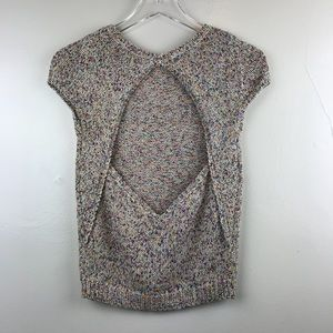 Zara Multi Color Sweater with Back Cutout - Small